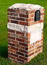 mailbox brick repair when your brick mailbox gets cracked or damaged